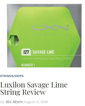 Luxilon Savage String Review Blog