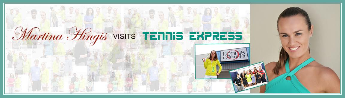 Martina Hingis Visits Tennis Express