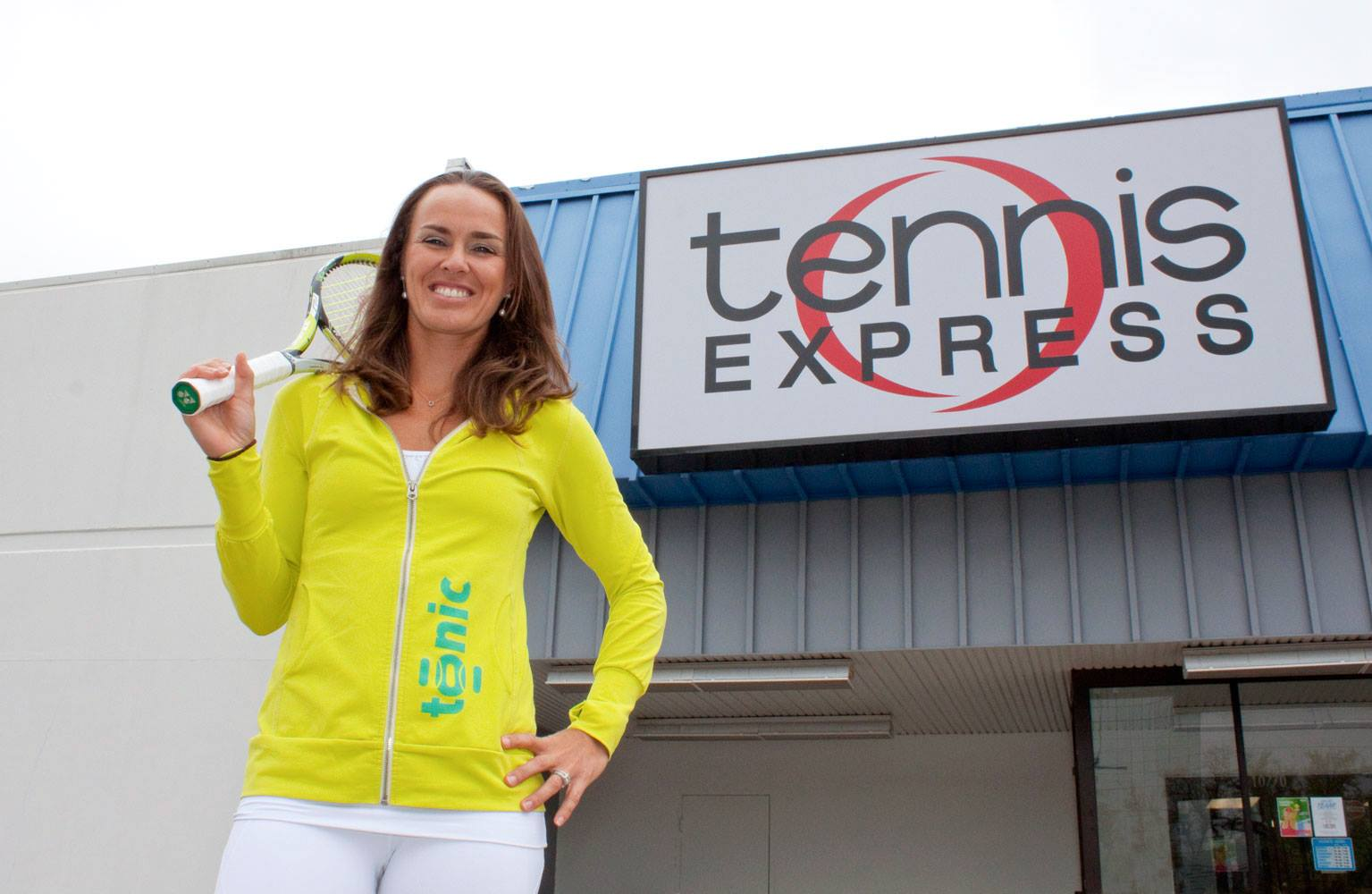 Martina Hingis Talks Tonic at Tennis Express