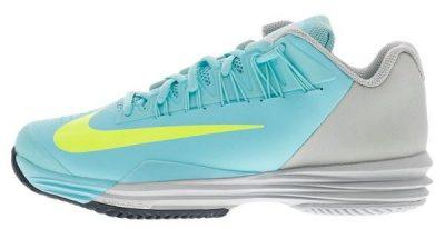 Nike Womens Lunar Ballistec 1.5 Tennis Shoes White and Summit Blue