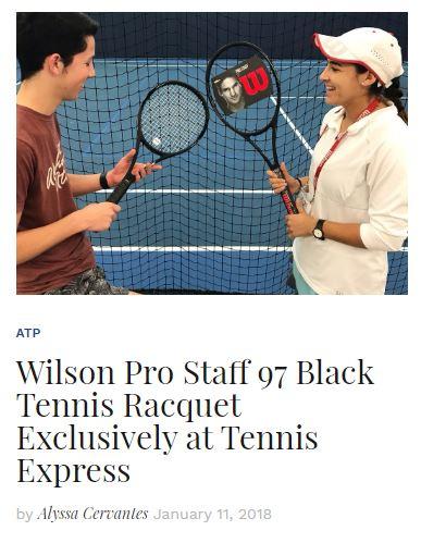 Federer's All-Black Wilson Pro Staff RF97 Blog
