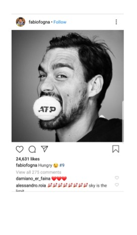 Fabio Fognini Instagram Pic