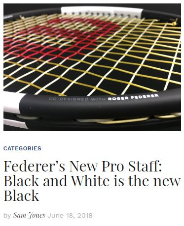 Roger Federer's Black and White Pro Staff RF97 Blog
