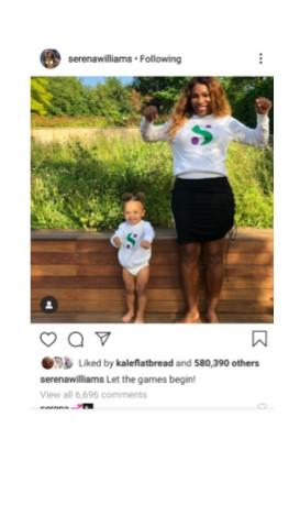 Serena Williams Instagram Pic