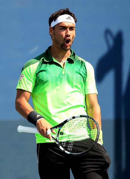 Fabio Fognini on Day 2 at the 2014 US Open Aug. 25, 2014 - Source: Matthew Stockman/Getty Images North America)
