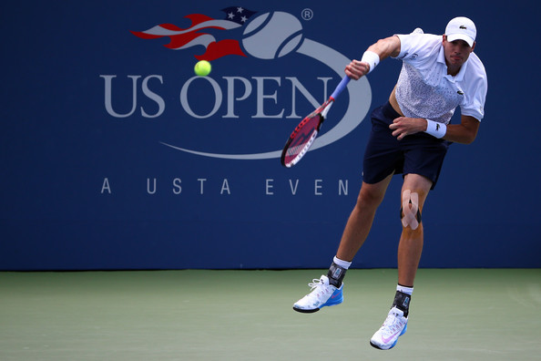 John Isner on Day 4 at the 2014 US Open (Aug. 27, 2014 - Source: Streeter Lecka/Getty Images North America)