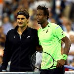 Roger Federer and Gael Monfils on Day 11 at the 2014 US Open (Sept. 3, 2014 - Source: Elsa/Getty Images North America)