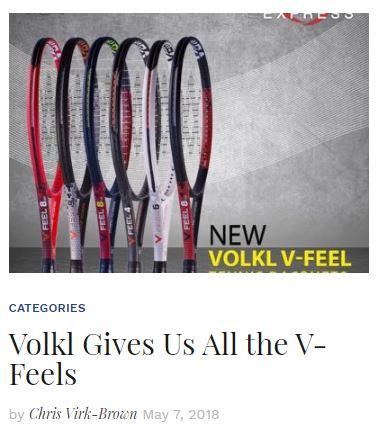 Volkl V-Feel Racquet Blog Thumbnail