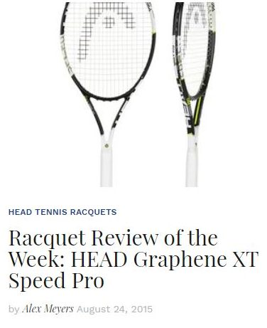 Head Graphene XT Speed Pro Tennis Racquet Review