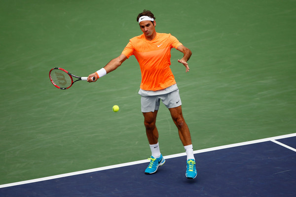 Roger Federer on Day 14 at the BNP Paribas Open (March 21, 2015 - Source: Julian Finney/Getty Images North America)