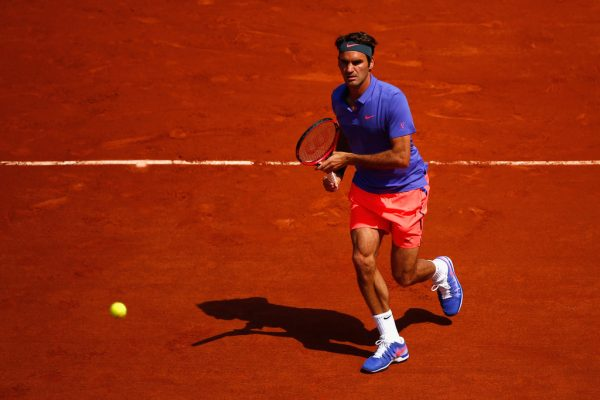 Roger Federer on Day 1 at the 2015 French Open (May 23, 2015 - Source: Julian Finney/Getty Images Europe)