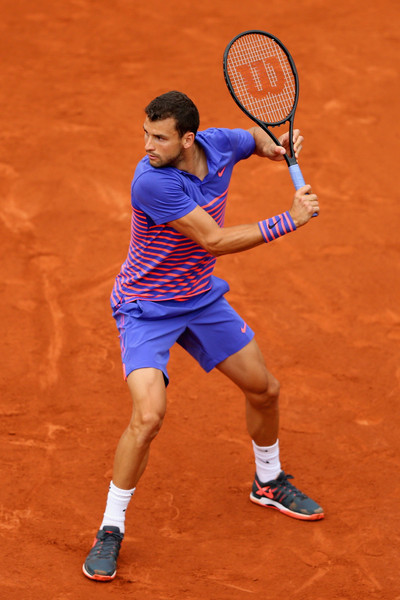 Grigor Dimitrov on Day 3 at the 2015 French Open (May 25, 2015 - Source: Clive Mason/Getty Images Europe)