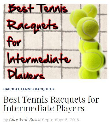 Best Tennis Racquets for Intermediate Tennis Players Blog