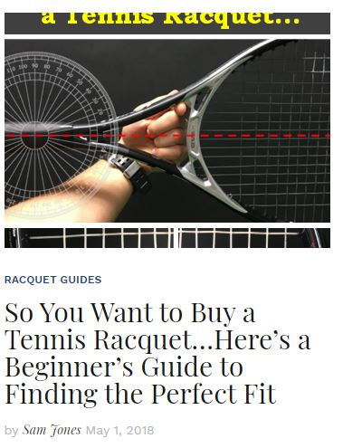 Buying a Tennis Racquet Blog