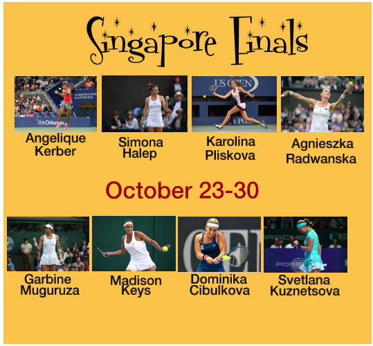 2015 WTA Finals in Singapore Final 8 Ladies