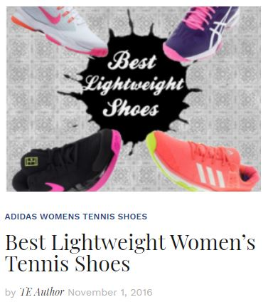 Best Women's Lightweight Tennis Shoes 2016