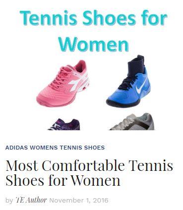 Most Comfortable Women's Tennis Shoes 2016