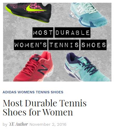 Most Durable Women's Tennis Shoes 2016 Blog