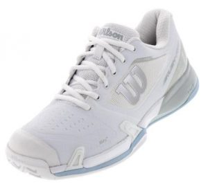 Wilson Womens 2019 Rush Pro 2.5 Tennis Shoe White and Light Blue