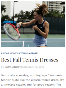 Best Fall Tennis Dresses