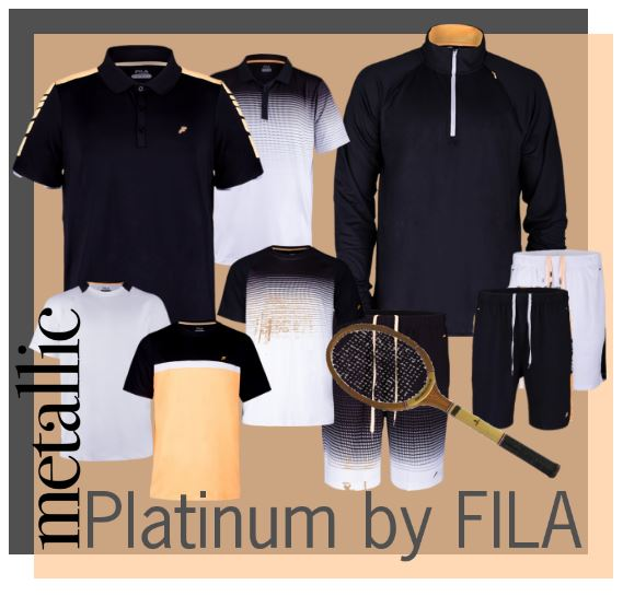 New Men's Tennis Platinum Collection from FILA