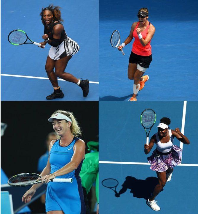 The Women of the 2017 Australian Open Singles Semifinal
