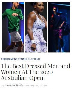 Best Dressed Players at the 2020 Australian Open