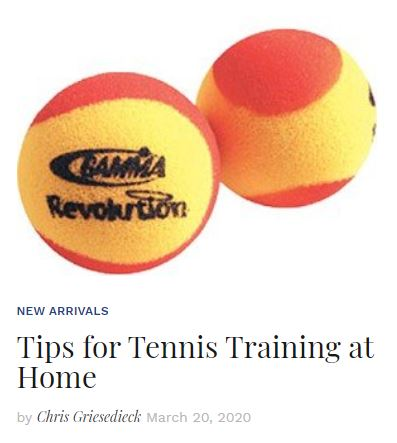 Tips for Tennis Training at home blog