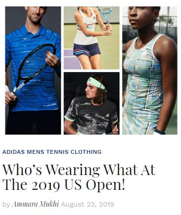 Who's Wearing What at the 2019 US Open Blog