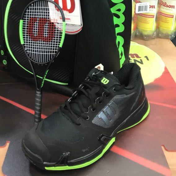 Tennis Express EXCLUSIVE: Wilson Men's Rush Pro 2.5 Tennis Shoe and Wilson Pro Staff 97 Black Tennis Racquet