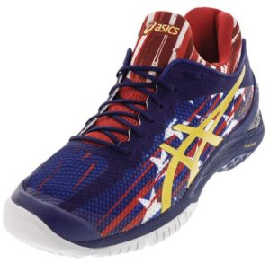 ASICS Unisex Gel-Court FF US Open Tennis Shoes Indigo Blue and Prime Red