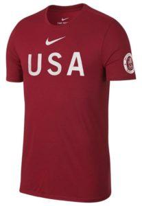 Nike Men's USA Tee Gym Red