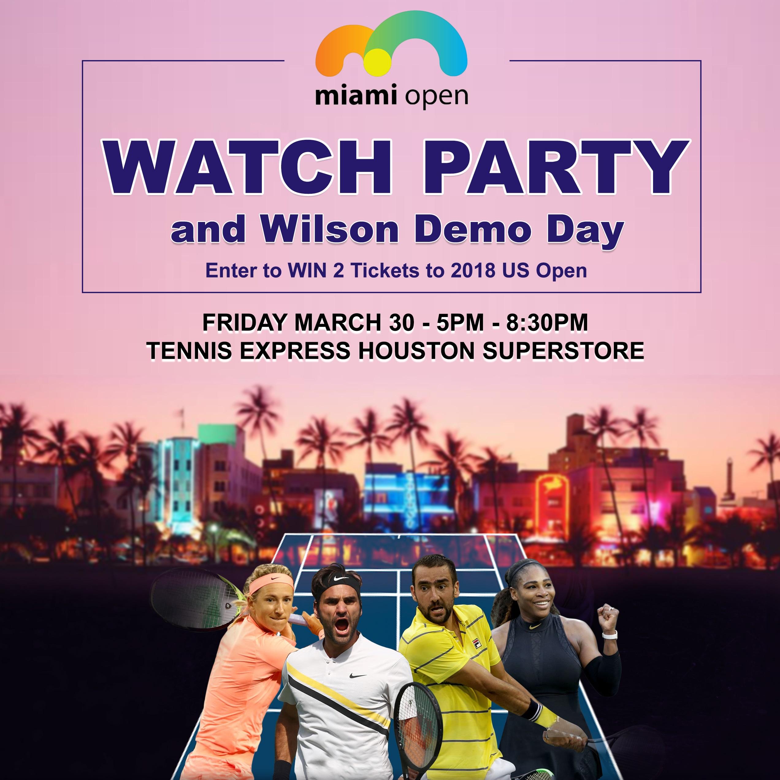 2018 Miami Open Watch Party at Tennis Express Thumbnail