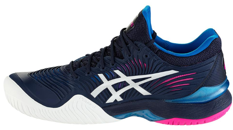 Asics Women's Court FF 2 Tennis Shoes in Peacoat and White