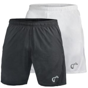 Athletic DNA Men's 9 Inch Knit Tennis Shorts White and Black