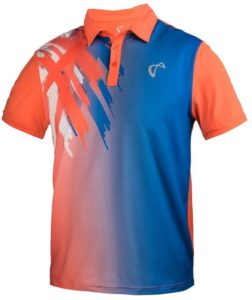 Athletic DNA Men's Tiger Claw Tennis Polo Blaze Orange