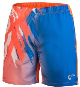 Athletic DNA Men's Tiger Claw Woven Tennis Shorts Blaze Orange