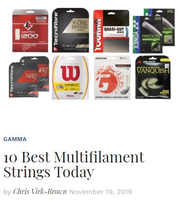 Best Multifilament Tennis String Blog
