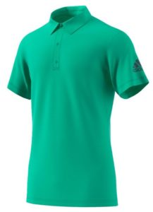 adidas Men's Climachill Tennis Polo Hi-Res Green