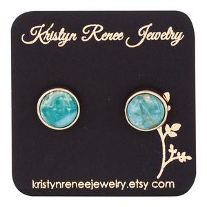 Kristyn Renee Jewelry Gold Plated Turquoise Earrings