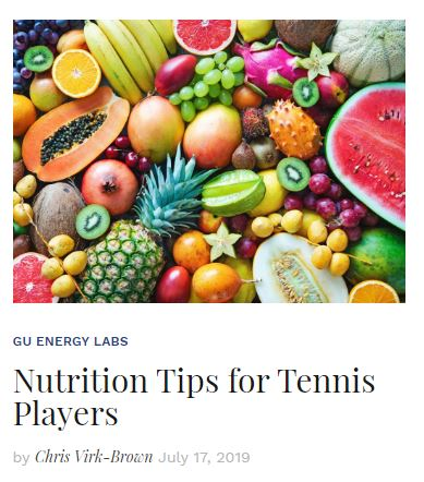 Nutrition Tips for Tennis Players