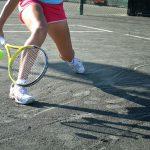 beginner at tennis
