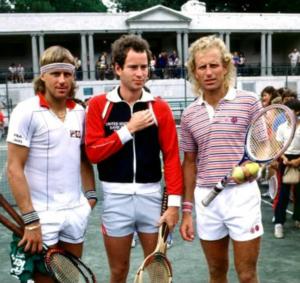 Bjorn Borg, John McEnroe and Vitas Gerulaitis
