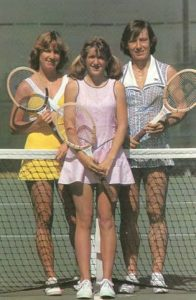 Chris Evert, Tracy Austin and Martina Navritilova
