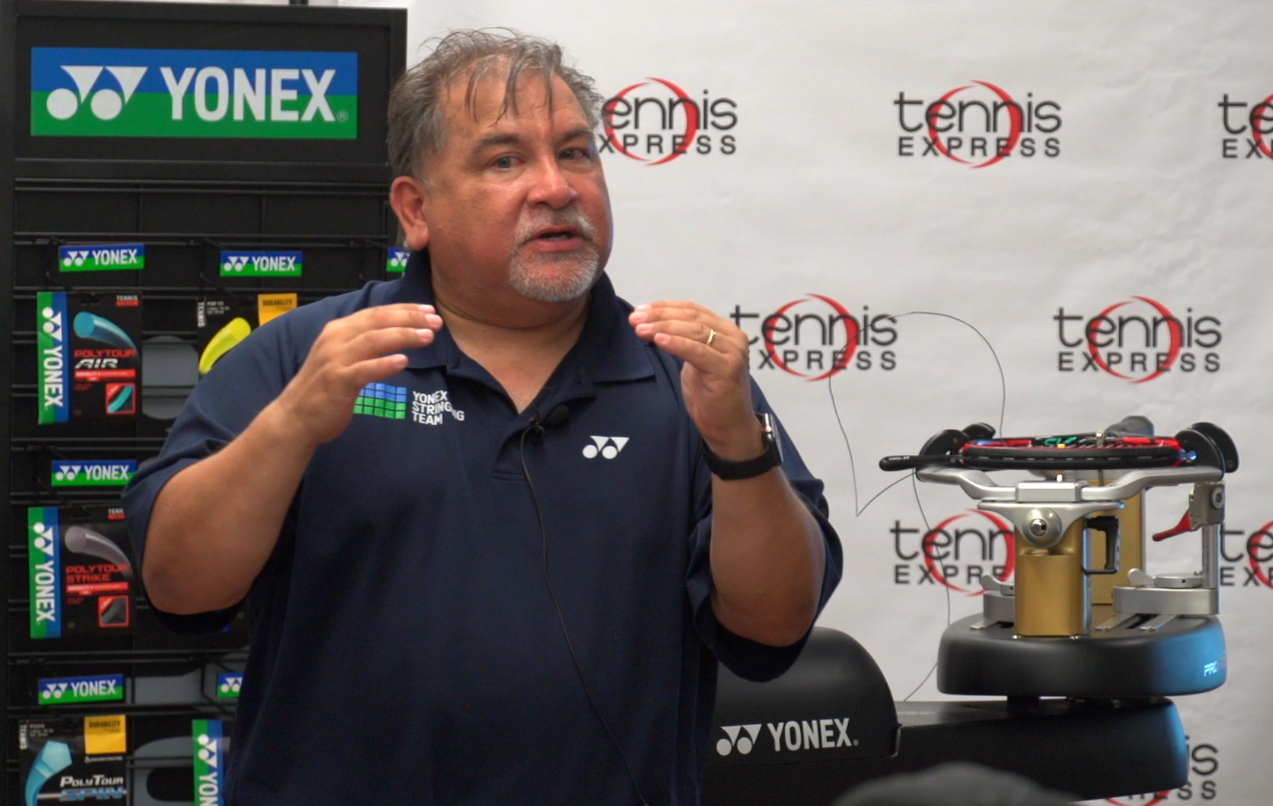 Mark Gonzalez from Yonex Conducts a Stringing Seminar
