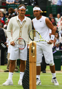 Roger and Rafa at Wimbledon