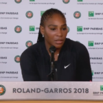 Serena Williams Discusses Her Shoulder Injury With Reporters at the 2018 French Open