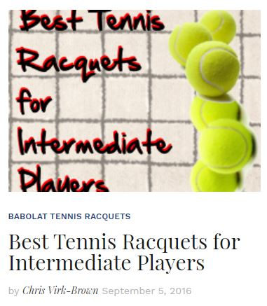 Best Racquets for Intermediate Tennis Players Blog
