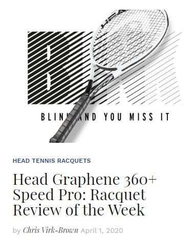 Head Graphene 360+ Speed Pro Tennis Racquet Review