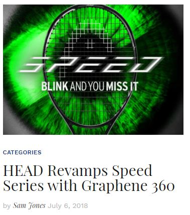 Head Graphene 360 Speed Racquet Series Blog